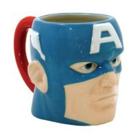Чашка Avengers - Captain America Head 15 oz. Molded Ceramic Mug