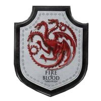 Настенный герб Game of Thrones Targaryen Dragon House Crest Wall Plaque