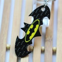 Брелок Batman bat double Logo Metal Keychain