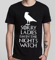Футболка мужская Sorry ladies I'm in the night's watch Game of Thrones (размер XL,XXL)