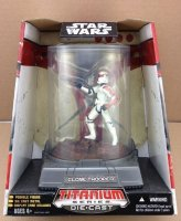 Фигурка Star Wars - TITANIUM DIECAST - Red Clone Trooper