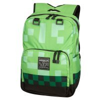 "Рюкзак Майнкрафт - Minecraft Creeper Kids Backpack (Green, 18"") School"